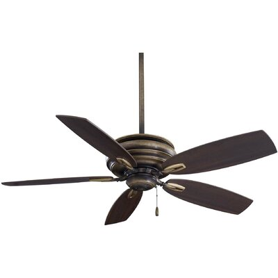 54 Timeless 5-Blade Ceiling Fan Finish: Patina Iron with Dark Maple Blades