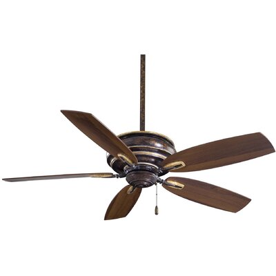 54 Timeless 5-Blade Ceiling Fan Finish: Mottled Copper with Dark Walnut Blades