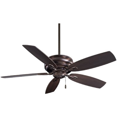 54 Timeless 5-Blade Ceiling Fan Finish: Dark Brushed Bronze with Maple Blades