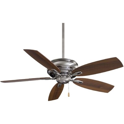 54 Timeless 5-Blade Ceiling Fan Finish: Pewter with Dark Walnut Blades