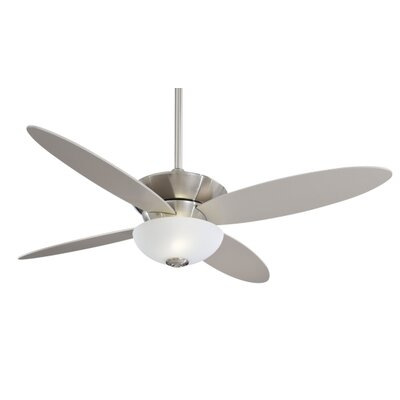 52 Zen 4 Blade LED Ceiling Fan with Remote Finish: Brushed Nickel