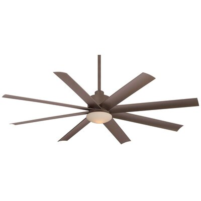 65 Slipstream 8 Blade Wet LED Ceiling Fan with Remote Finish: Oil Rubbed Bronze
