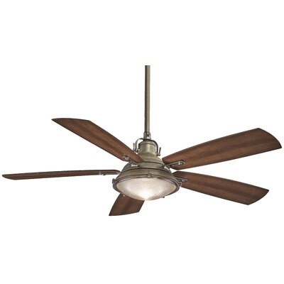 56 Groton 5-Blade Ceiling Fan Finish: Weathered Aluminum with Dark Pine Blades