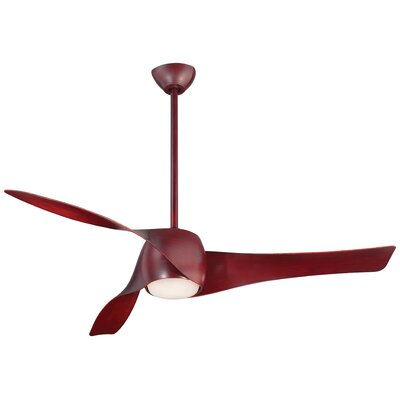 58 Artemis LED 3-Blade Ceiling Fan Finish: Mahogany