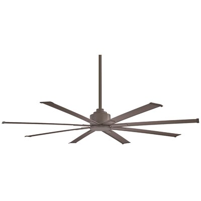 65 Xtreme 8 Blade Outdoor Ceiling Fan with Remote Finish: Oil Rubbed Bronze
