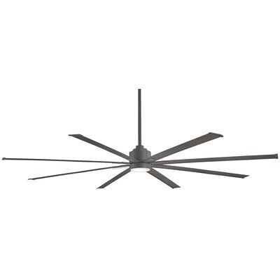 84 Xtreme 8 Outdoor Ceiling Fan with Remote Finish: Plated Smoked Iron