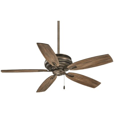 54 Timeless 5-Blade Ceiling Fan Finish: Heirloom Bronze with Aged Boardwalk Blades