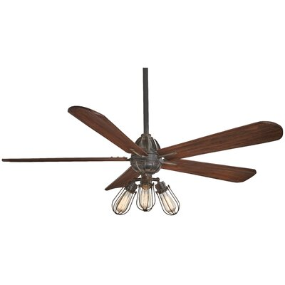 56 Alva 4 Blade Ceiling Fan with Remote Finish: Dark Brown