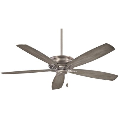 52 Kafe 5 Blade Ceiling Fan Finish: Brushed Nickel