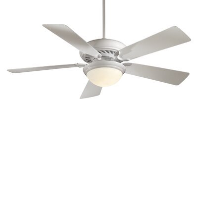 52 Supra 5 Blade LED Ceiling Fan Finish: White with White Blades
