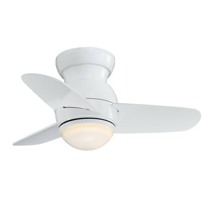 26 Spacesaver 3 Blade Ceiling Fan Finish: White