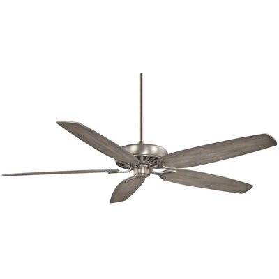 72 Great Room Basic 5-Blade Ceiling Fan Finish: Brushed Nickel with Seashore Gray Blades