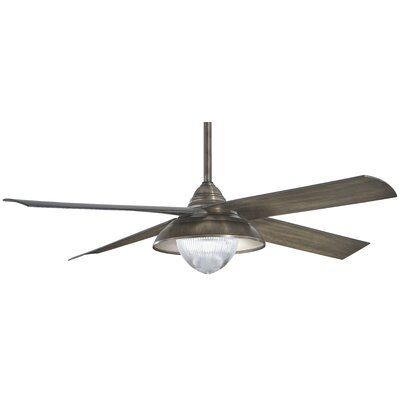 56 Shade 4 Blade Outdoor LED Ceiling Fan Finish: Heirloom Bronze with Charcoal Blades