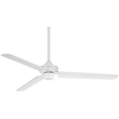 54 Steal 3 Blade Ceiling Fan Finish: Flat White
