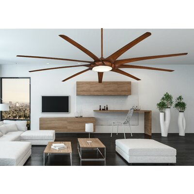 99 Ninety Nine 9 Blade Ceiling Fan Finish: Distressed Koa