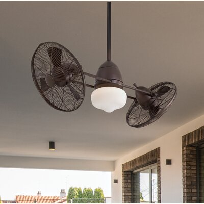 42 Twin Gyro 6 Blade LED Turbofan Finish: Oil Rubbed Bronze