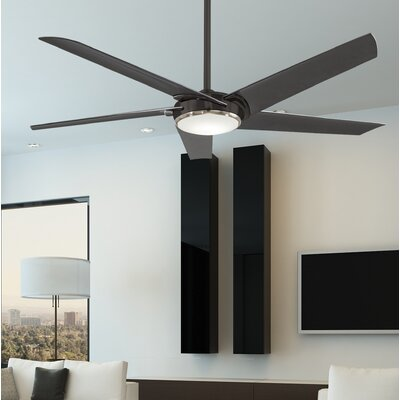 60 Raptor 5-Blade Ceiling Fan Finish: Gun Metal