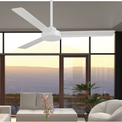 62 Roto 3 Blade Ceiling Fan Finish: Flat White