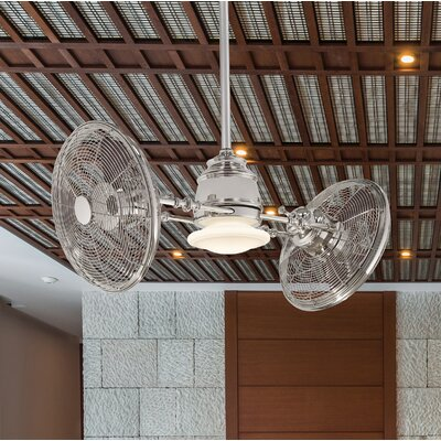 42 Vintage Gyro 3 Blade LED Ceiling Fan Finish: Polished Nickel