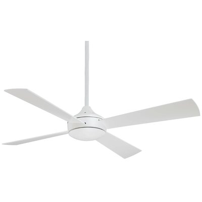 52 Aluma 4 Blade LED Ceiling Fan Finish: Flat White