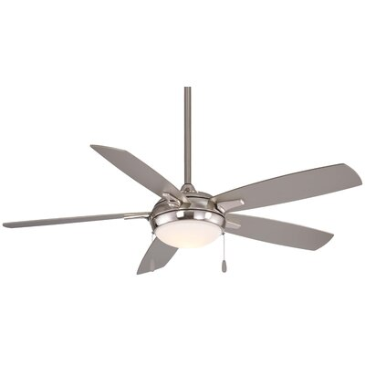 54 Lun-Aire LED 5 Blade Ceiling Fan Finish: Brushed Nickel