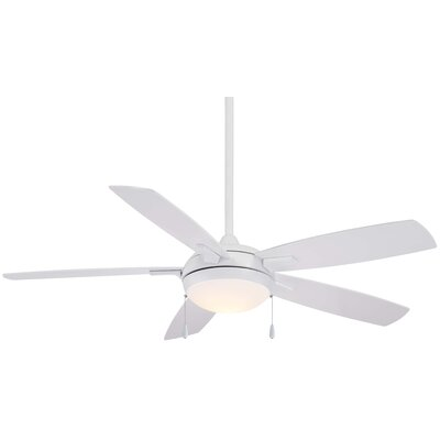 54 Lun-Aire LED 5 Blade Ceiling Fan Finish: White