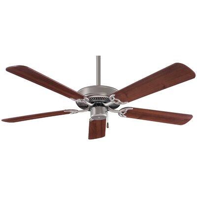 52 Contractor 5-Blade Ceiling Fan Finish: Brushed Steel