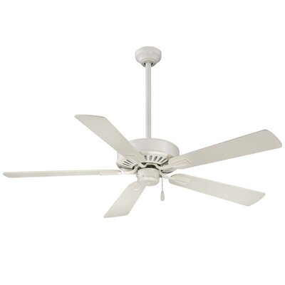 52 Contractor Plus 5-Blade Ceiling Fan Finish: Bone White