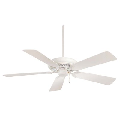 52 Supra 5-Blade Ceiling Fan Finish: Shell White with Shell White Blades