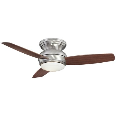 44 Concept II 3 Blade Ceiling Fan Finish: Chrome with Pewter Blades