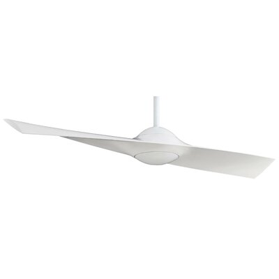 52 Wing 1-Blade Ceiling Fan with Remote Control Finish: White