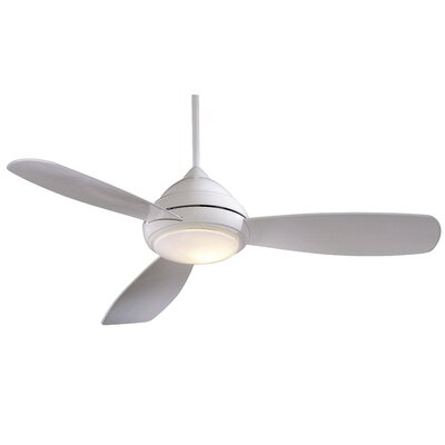 52 Concept I 3 Blade Ceiling Fan with Remote Finish: White