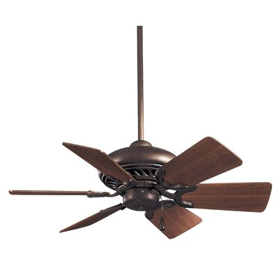32 Supra 6-Blade Ceiling Fan Finish: Oil Rubbed Bronze w/ Maple Blades