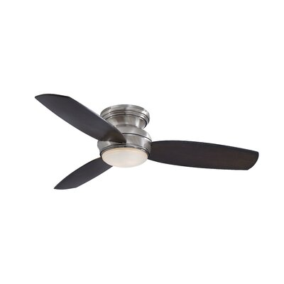 44 Traditional Concept 3-Blade Ceiling Fan Finish: Pewter with Dark Maple Blades