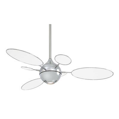 54 George Kovacs 6-Blade Modern Ceiling Fan Finish: Polished Nickel