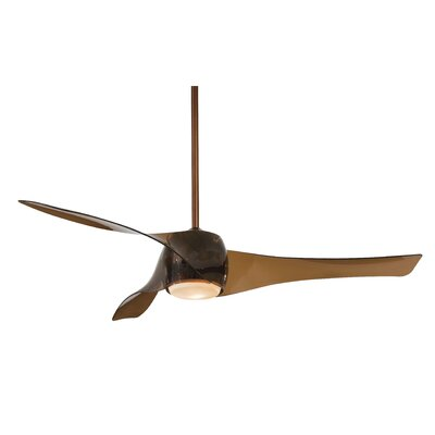 58 Artemis LED 3-Blade Ceiling Fan Finish: Copper Bronze