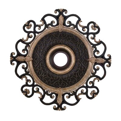 Napoli 38 Ceiling Medallion in Sterling Walnut