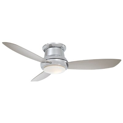 44 Concept II 3 Blade LED Ceiling Fan Finish: Polished Nickel, Bulb Type: LED