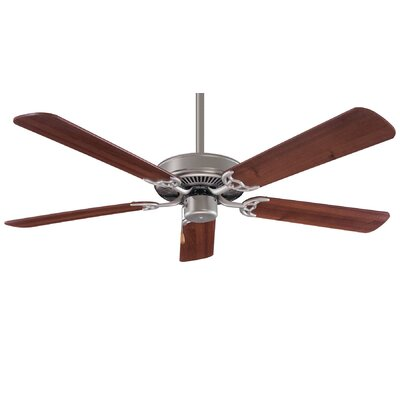 42 Contractor 5-Blade Ceiling Fan Finish: Brushed Steel/Wood Blades