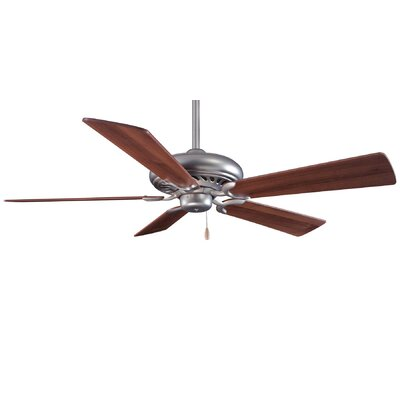 52 Supra 5-Blade Ceiling Fan Finish: Brushed Steel with Dark Walnut Blades