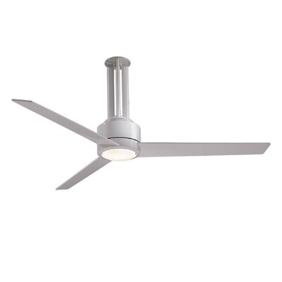 56 Flyte 3 Blade LED Ceiling Fan with Remote Finish: White