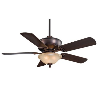 52 Bolo 5-Blade Ceiling Fan with Remote Finish: Dark Brushed Bronze, Glass Type: Avario Mezzo Glass