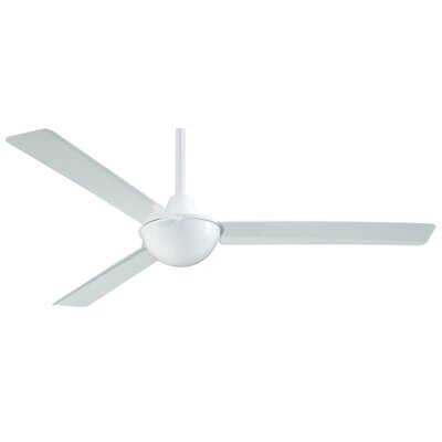 52 Kewl 3-Blade Ceiling Fan Finish: White