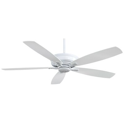 60 Kafe 5-Blade Ceiling Fan with Handheld Remote Finish: White