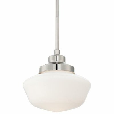 Derouen 1-Light Metal Pendant Finish: Polished Nickel