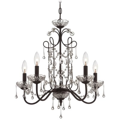 Mclaurin 5-Light Crystal Chandelier