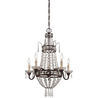 Mcmasters 5-Light Crystal Chandelier