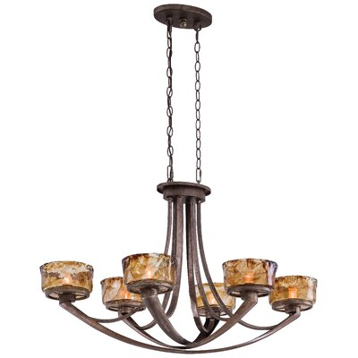 La Bohem Monarch 6-Light Shaded Chandelier