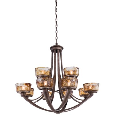 La Bohem Monarch 12-Light Shaded Chandelier