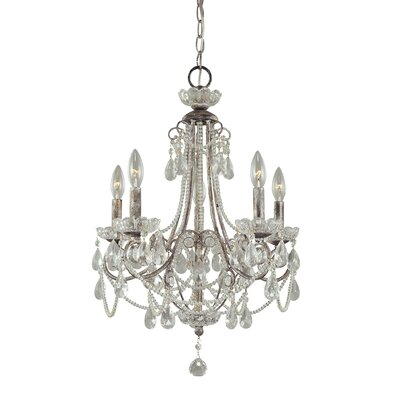 Brookford 5-Light Crystal Chandelier